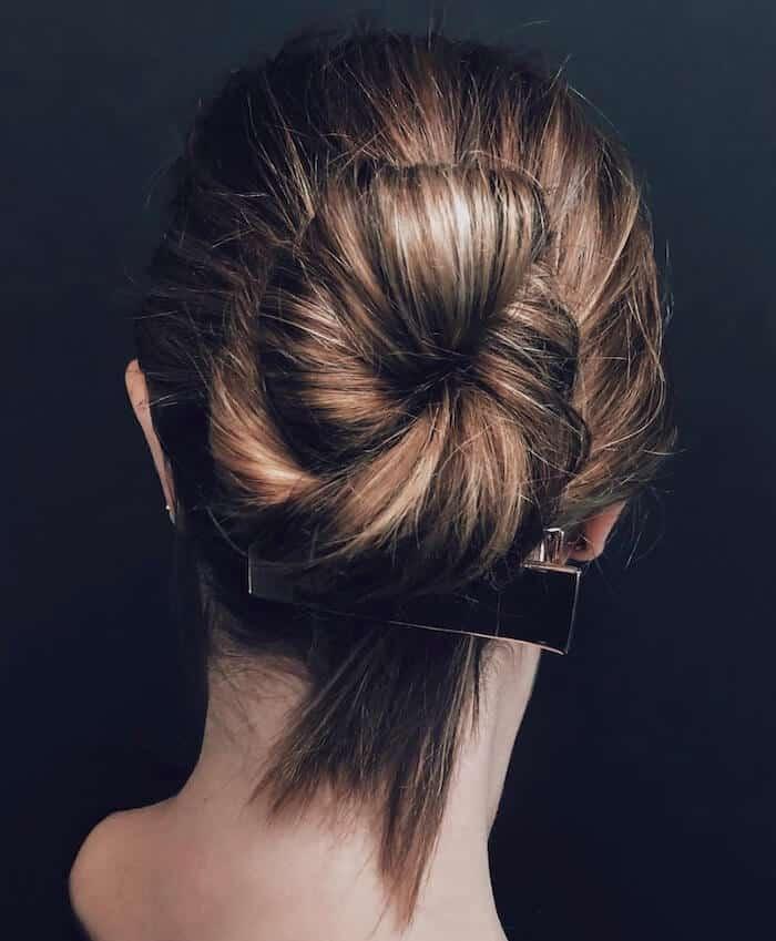 capelli raccolti 2019 chignon messy