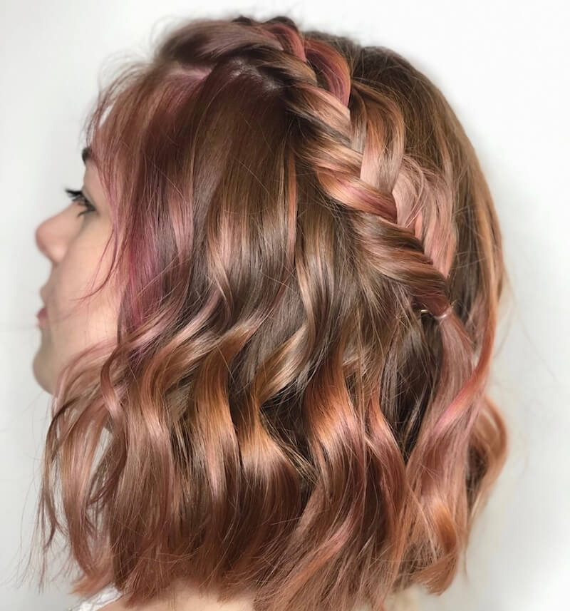 ciocche colorate capellii castani estate.2019