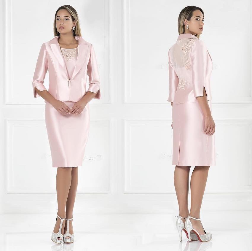 abito cerimonia corto impero couture