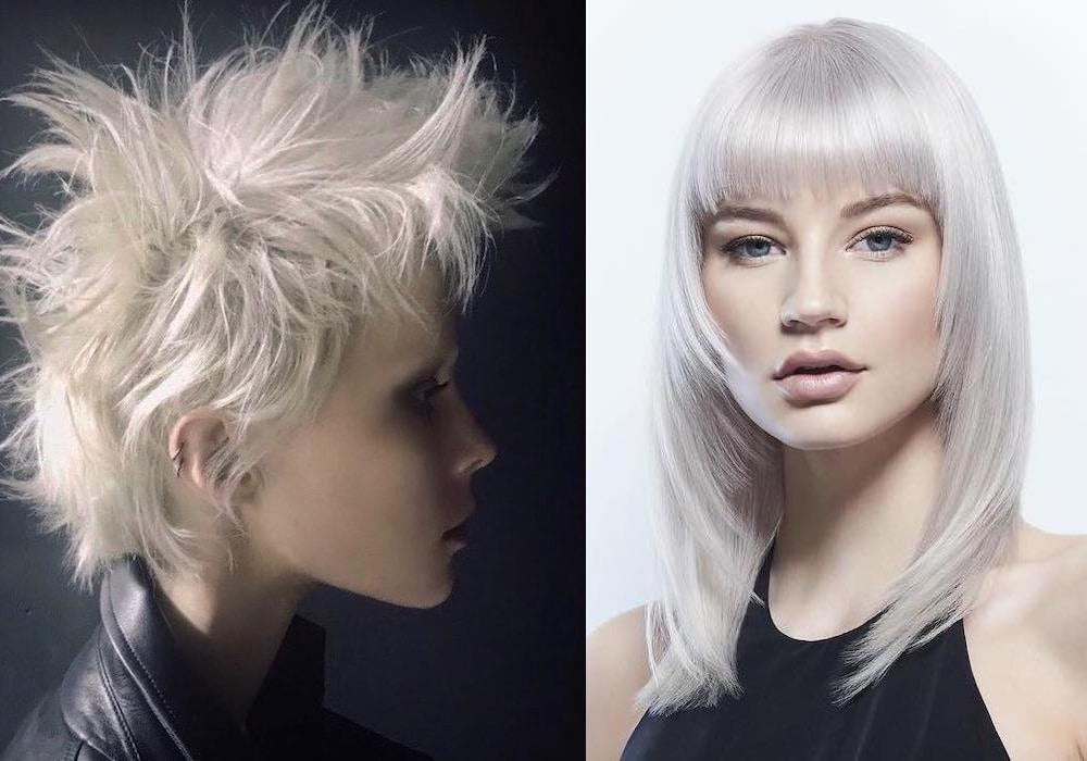 Tagli capelli corti capelli bianchi