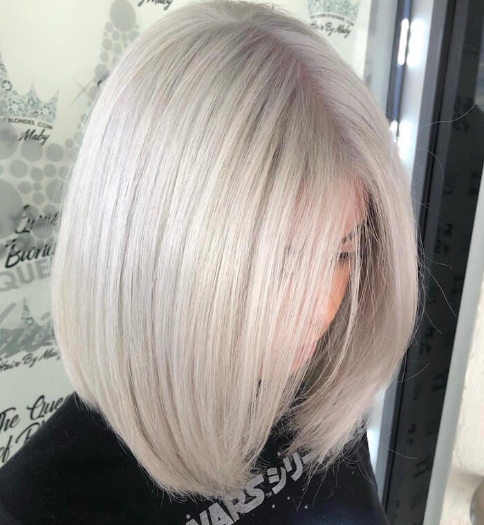 capelli bianchi medi lisci 2019