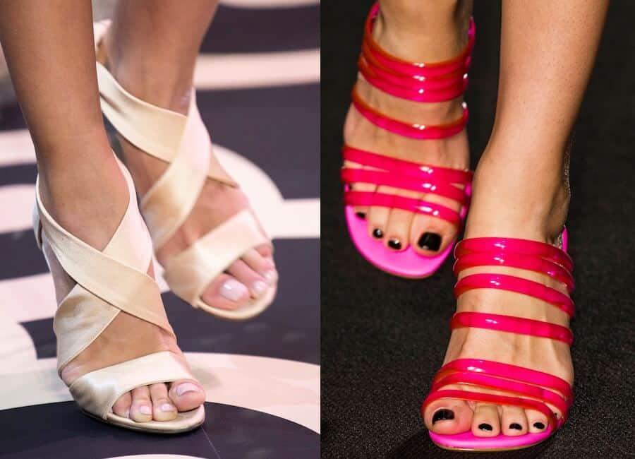 Smalto unghie piedi estate 2019. Bianco, nero e nude per le tendenze estive  , Moda