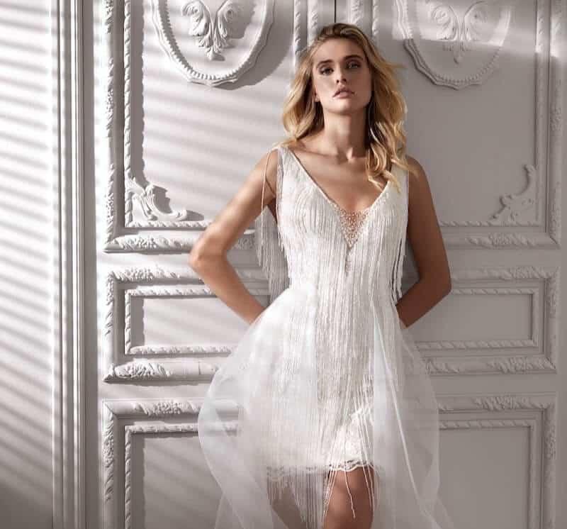 abiti da sposa corti 2020 nicole couture