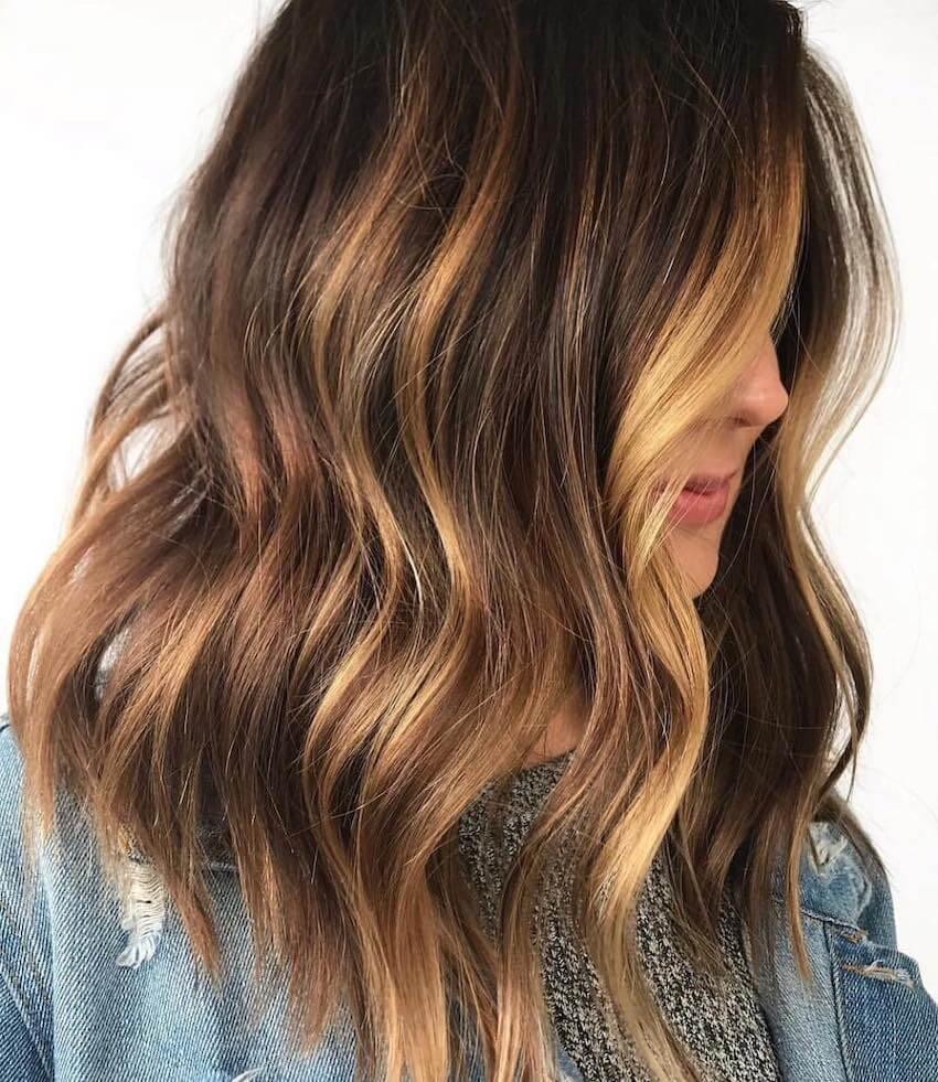 balayage biondo capelli scuri 2019