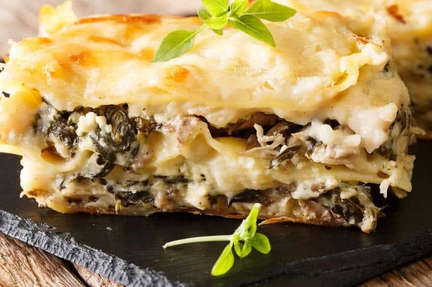 menu pasqua lasagne ai funghi