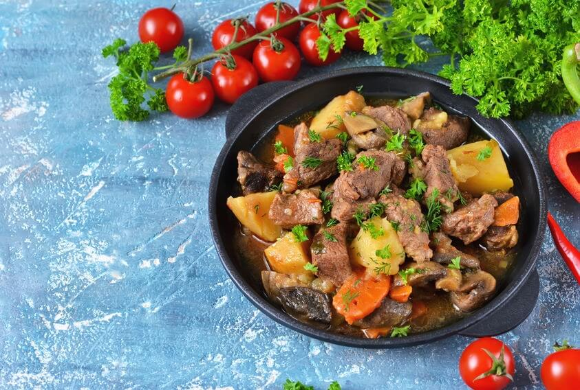 ricette pasqua agnello funghi e patate