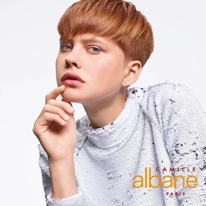 taglio corto capelli rame camille albane pe 2019