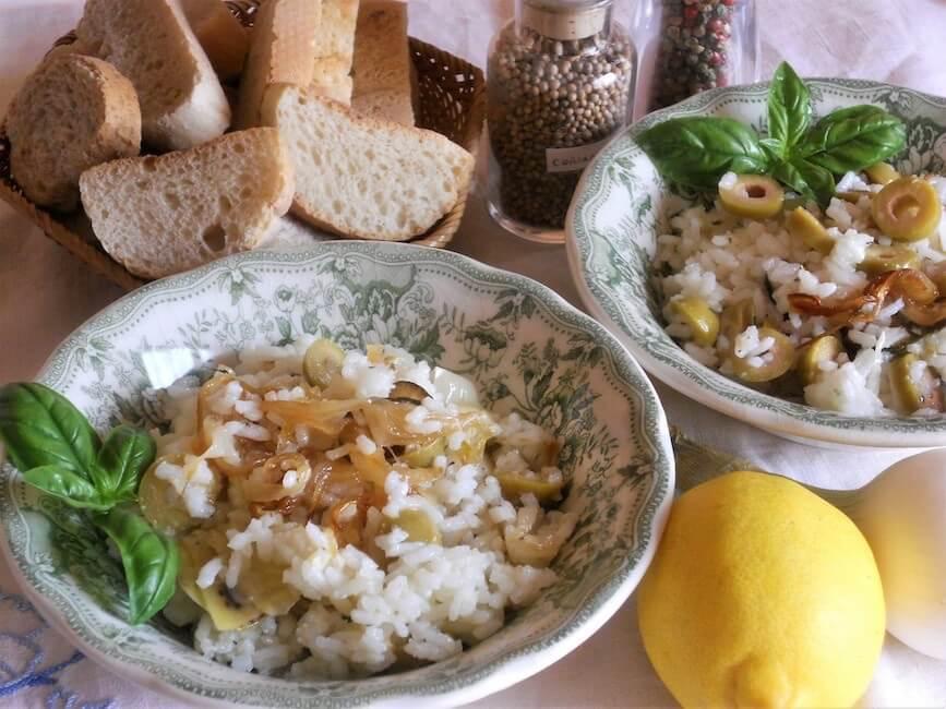 Insalata di riso con verdure in agrodolce