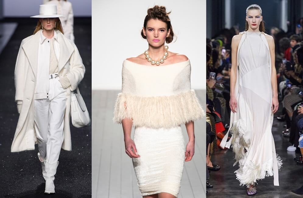 abiti bianchi eleganti moda tendenze inverno 2019-2020