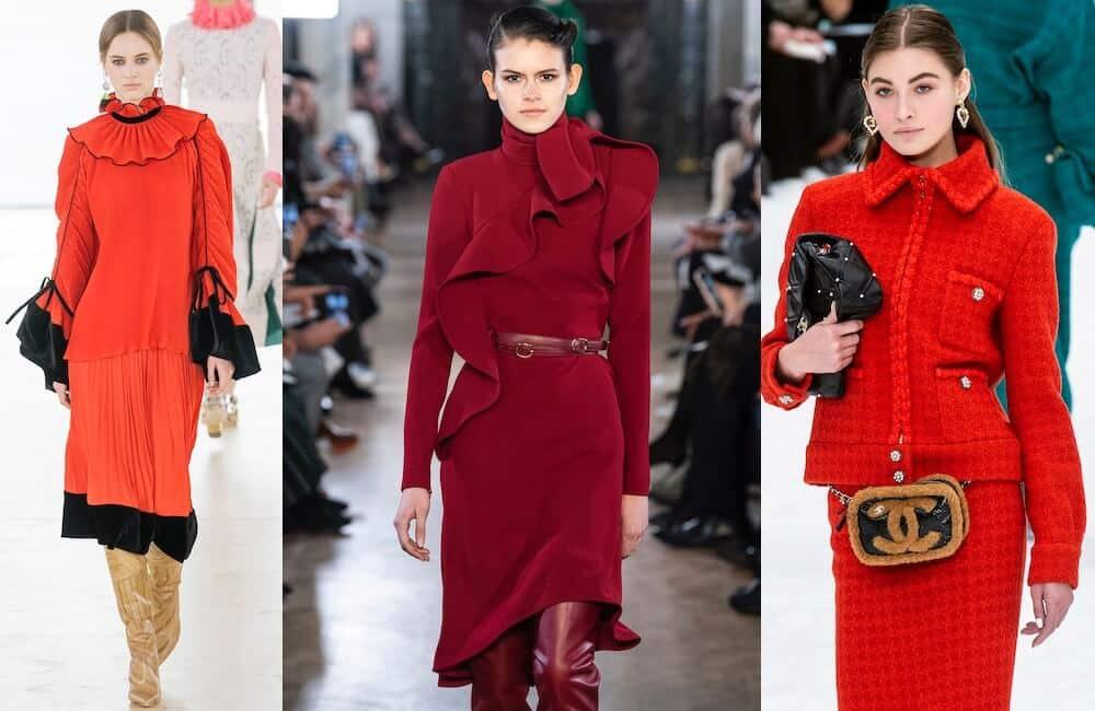 abiti rossi moda autunno inverno 2019-2020