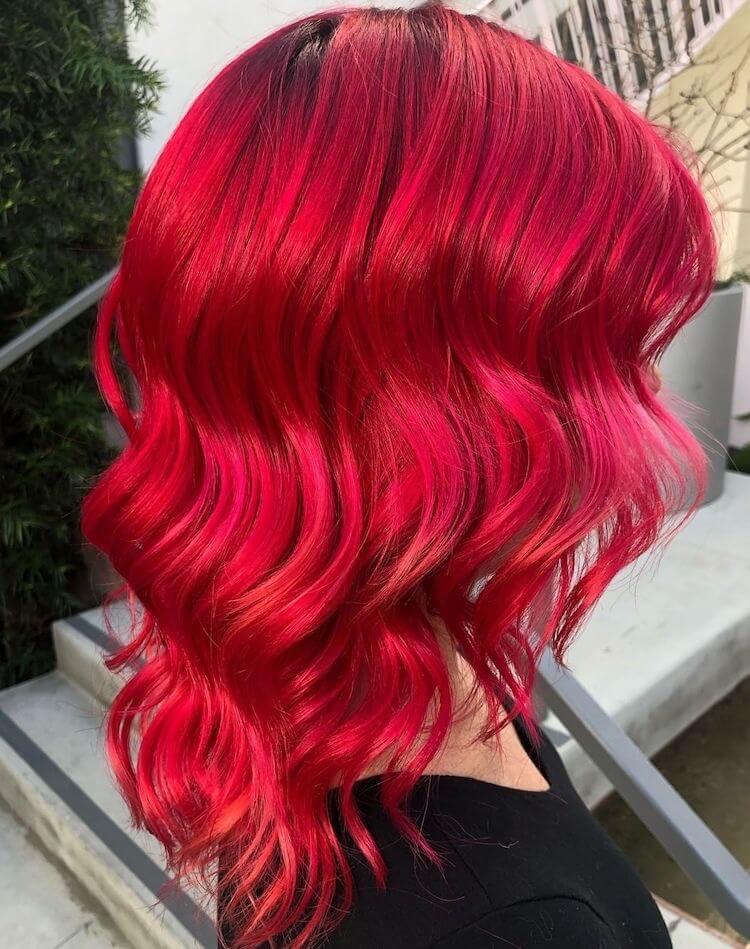 capelli medi rosso ciliegia 2019