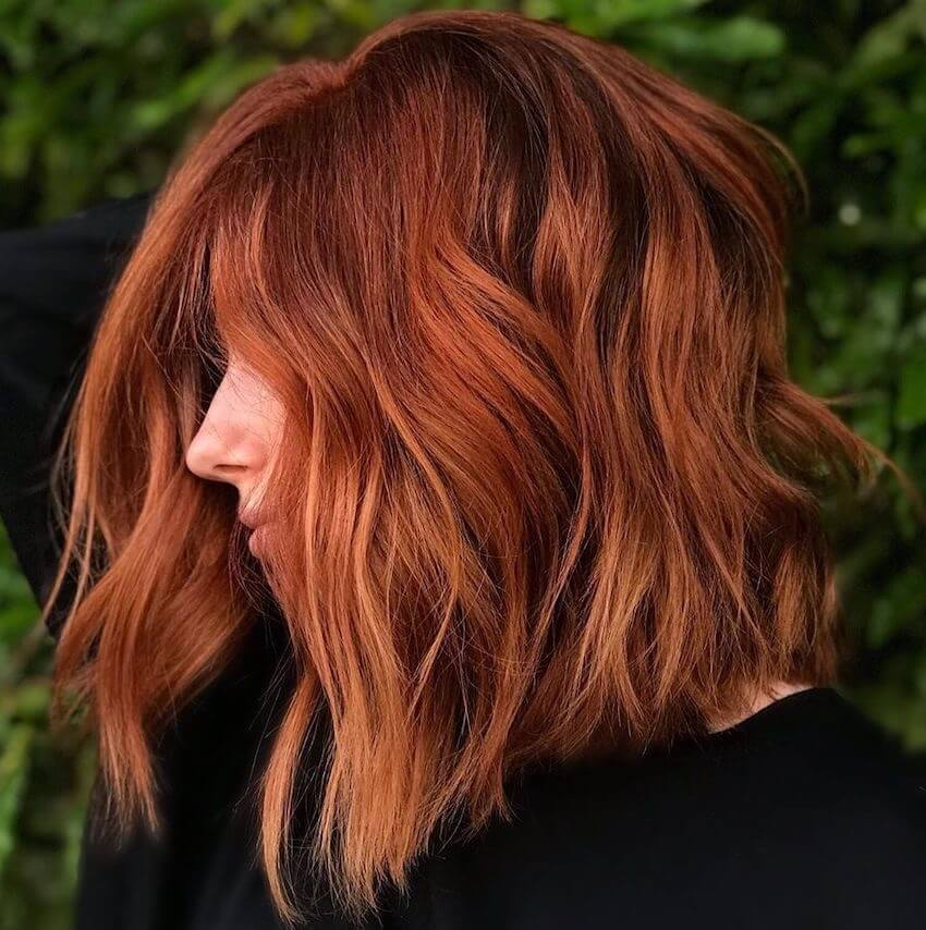 capelli rossi tagli medi estate 2019