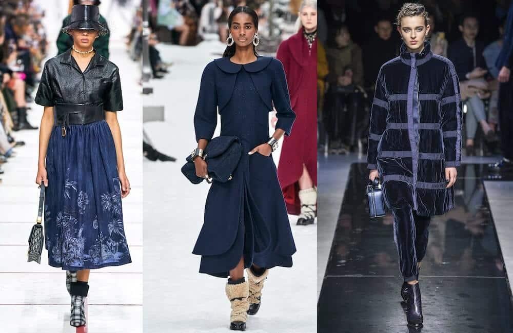 colori moda 2019 2020 -abiti blu
