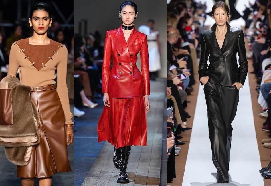 moda autunno inverno 2019-2020 abiti in pelle