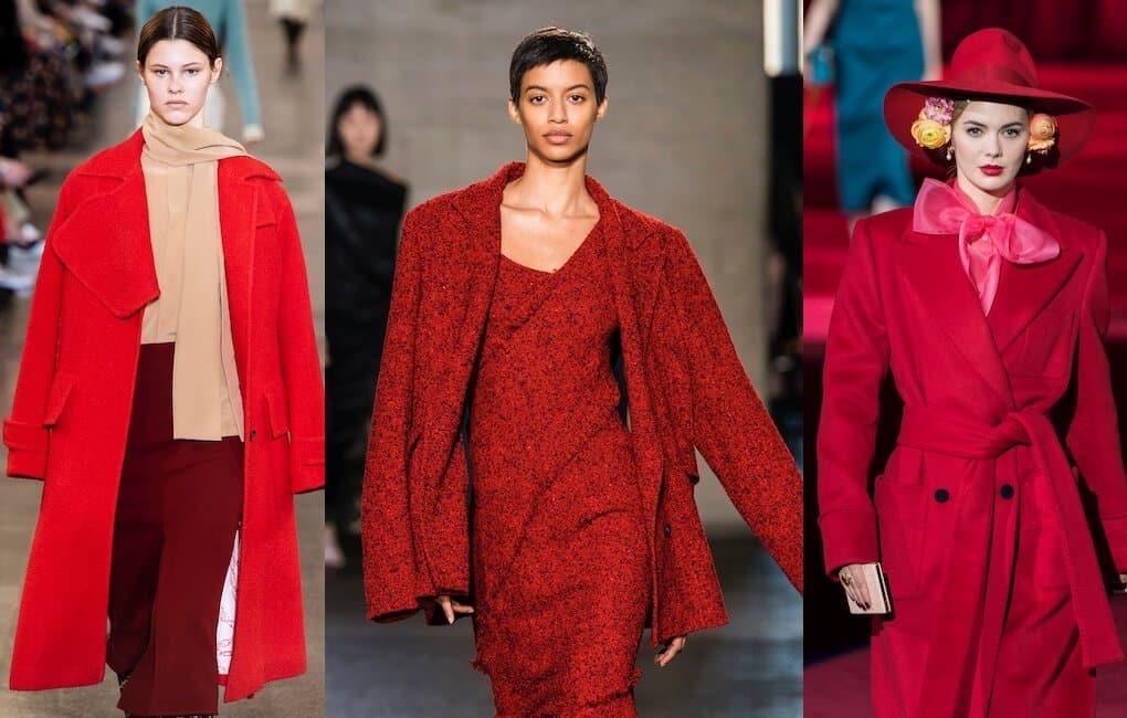 moda autunno inverno 2019 2020-completi rossi
