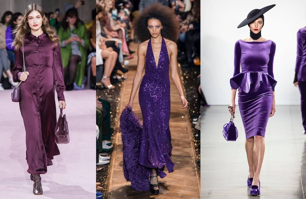 moda inverno 2019 2020-abiti viola