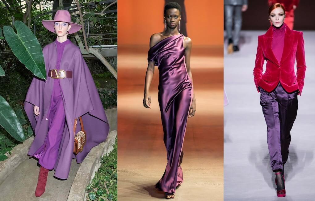 moda inverno 2019-2020-viola colore -abbinamenti