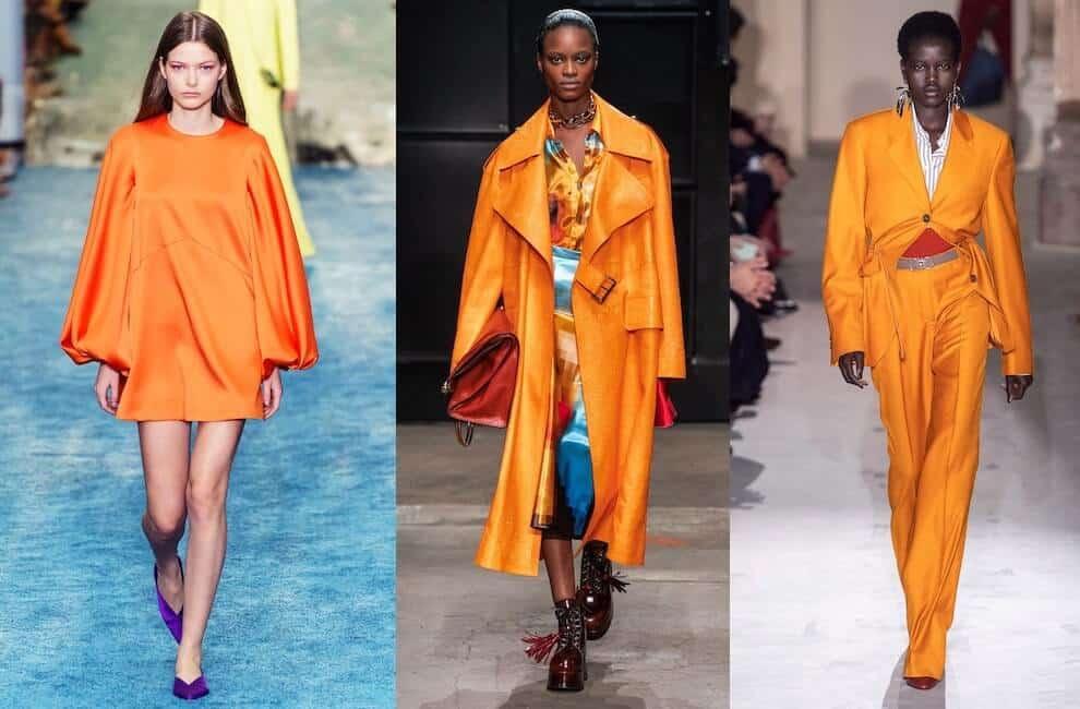 moda inverno vestiti arancioni 2020