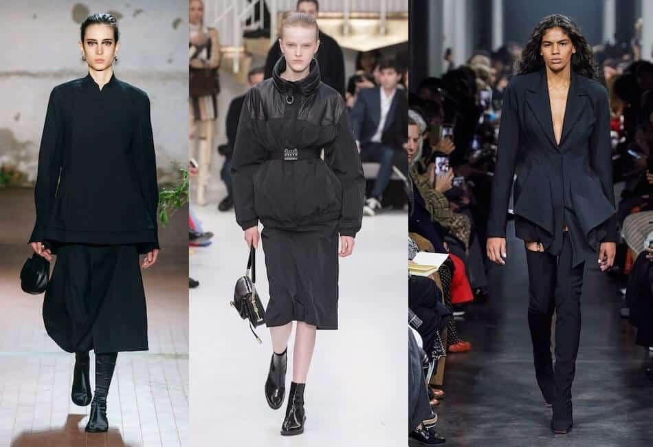 tendenze moda autunno inverno 2019-2020 abiti neri