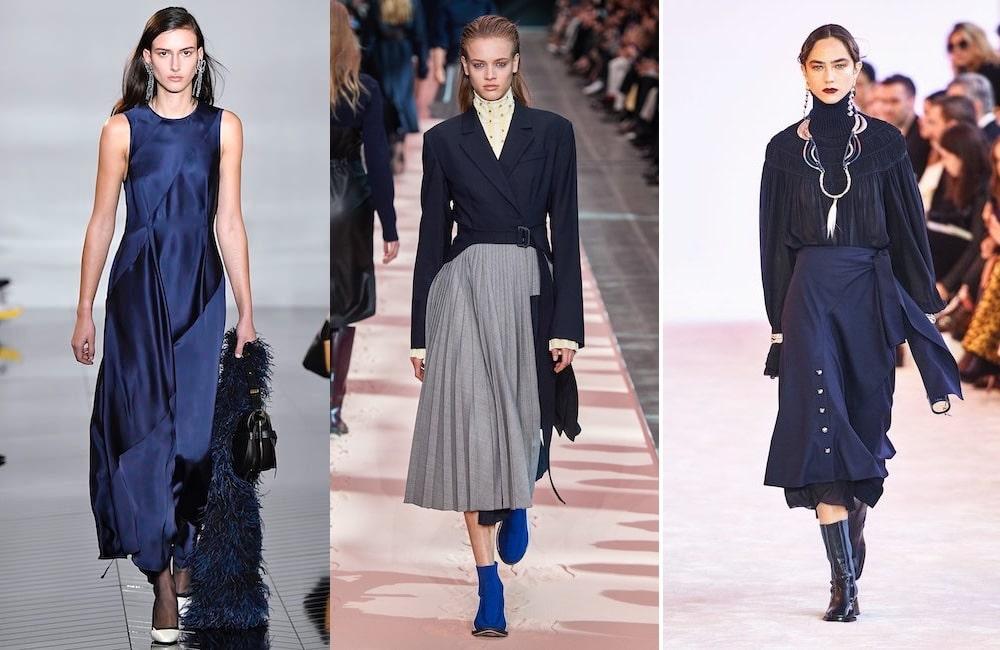 tendenze moda inverno 2019 vestiti blu