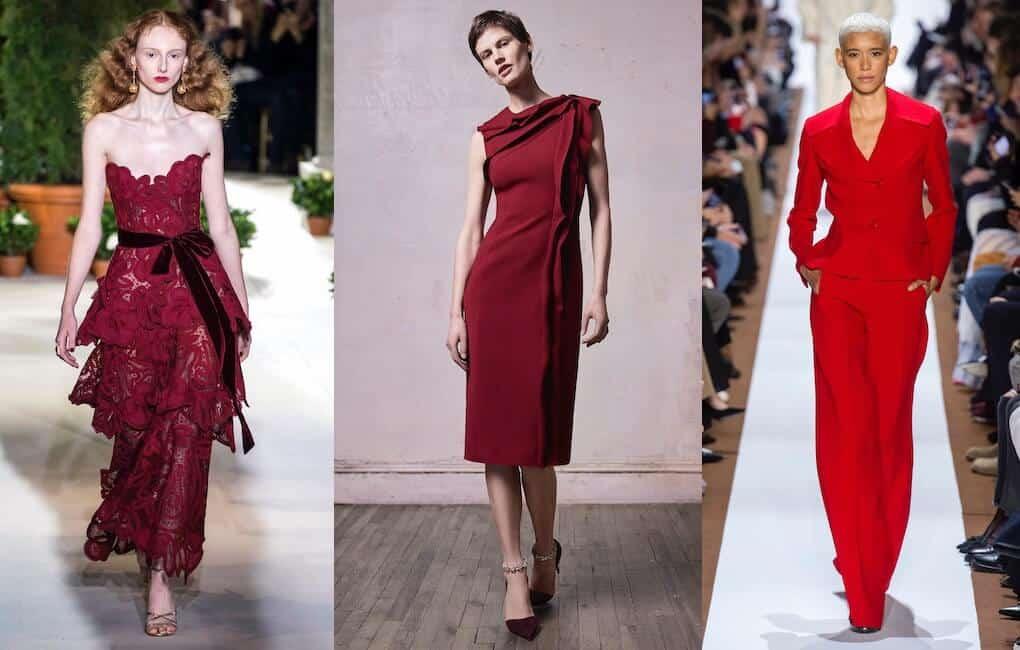 vestiti eleganti rossi inverno 2019-2020