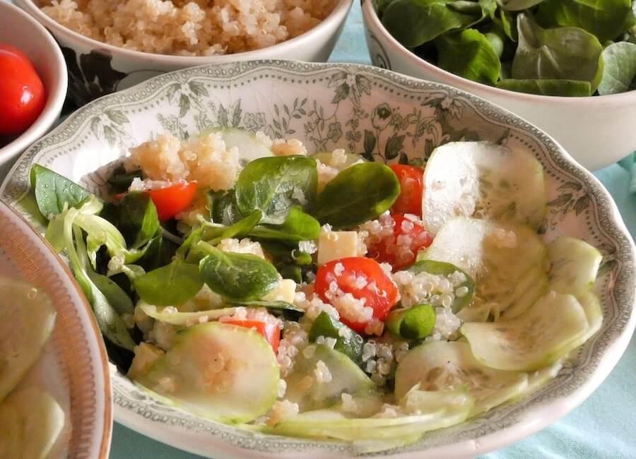 Ricetta Insalata di quinoa light con verdure