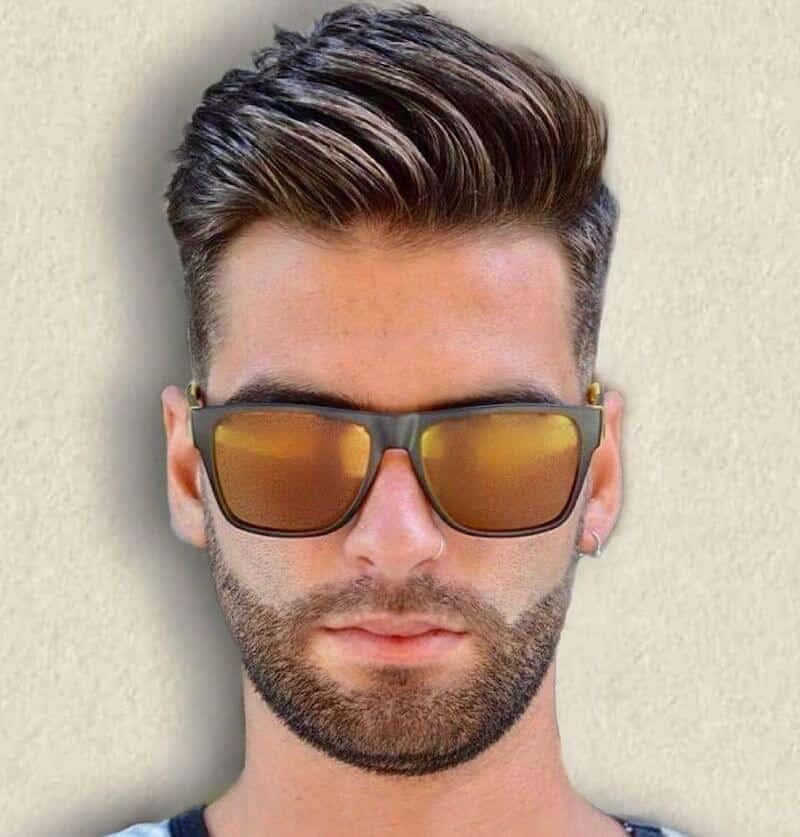 capelli uomo taglio sfumato laterale 2019