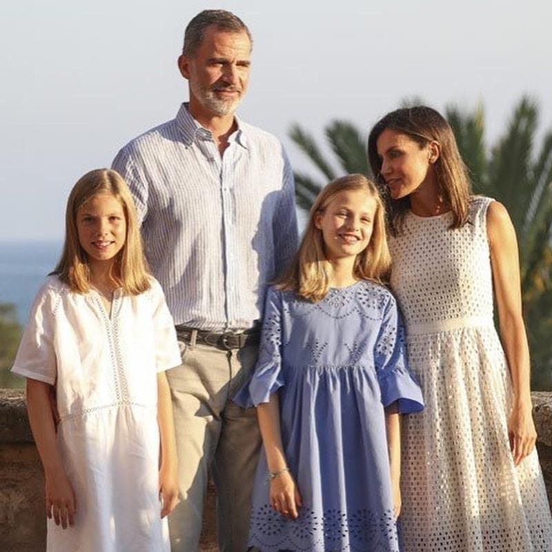 famiglia reale spagnola instagram