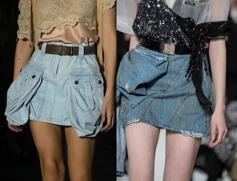 gonne corte jeans estate 2019