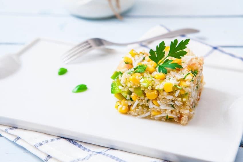insalata riso quinoa mais