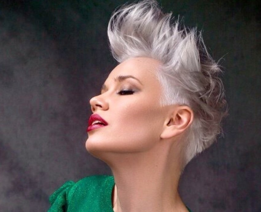 platinum hair capelli corti 2019