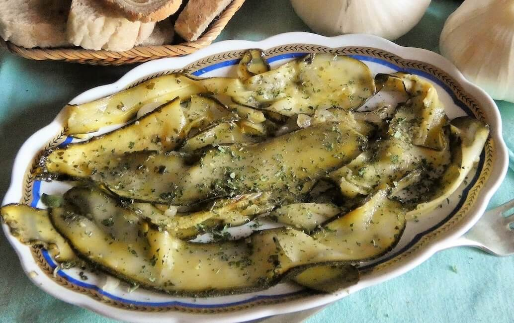zucchine in padella in agrodolce