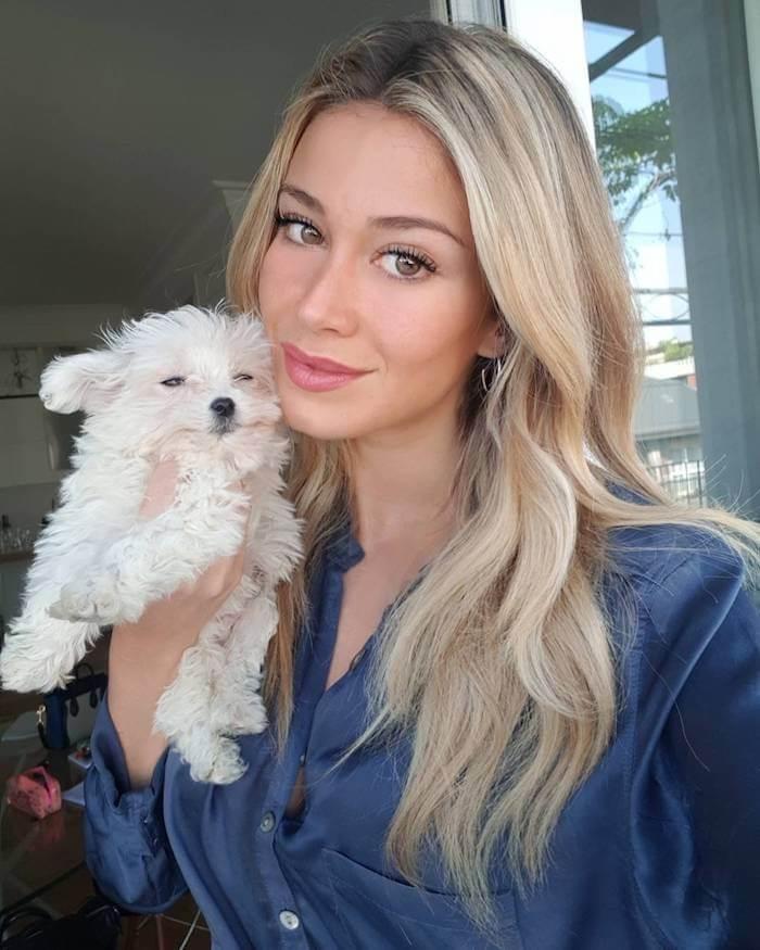 Diletta Leotta instagram cagnolino