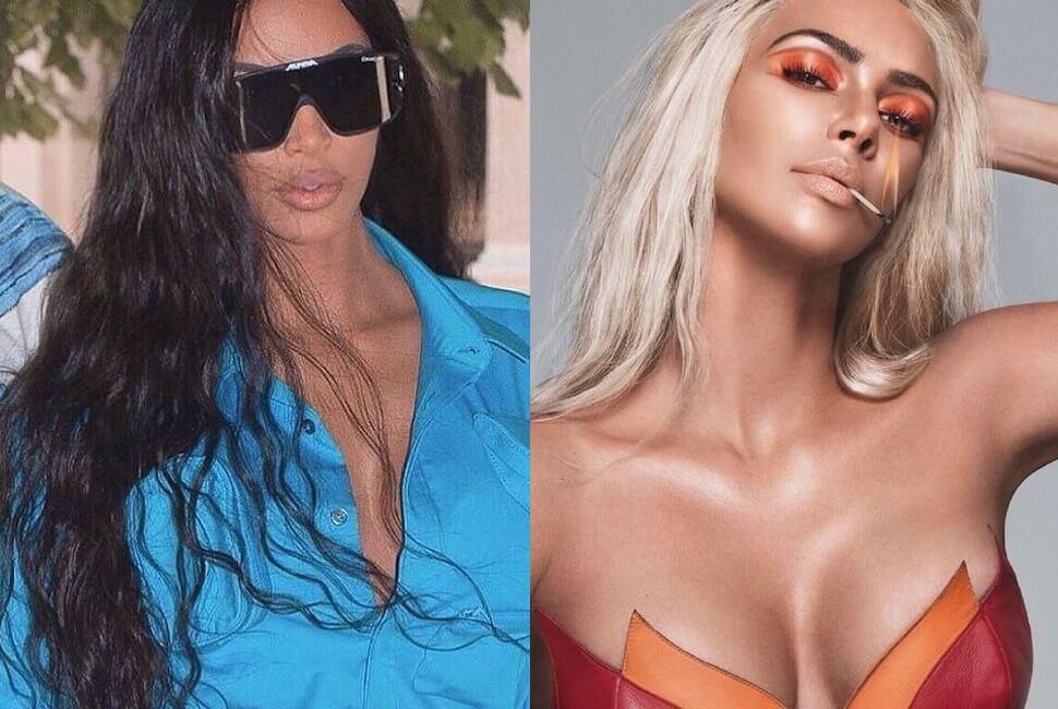 Kim Kardashian capelli Instagram 12 luglio 2019