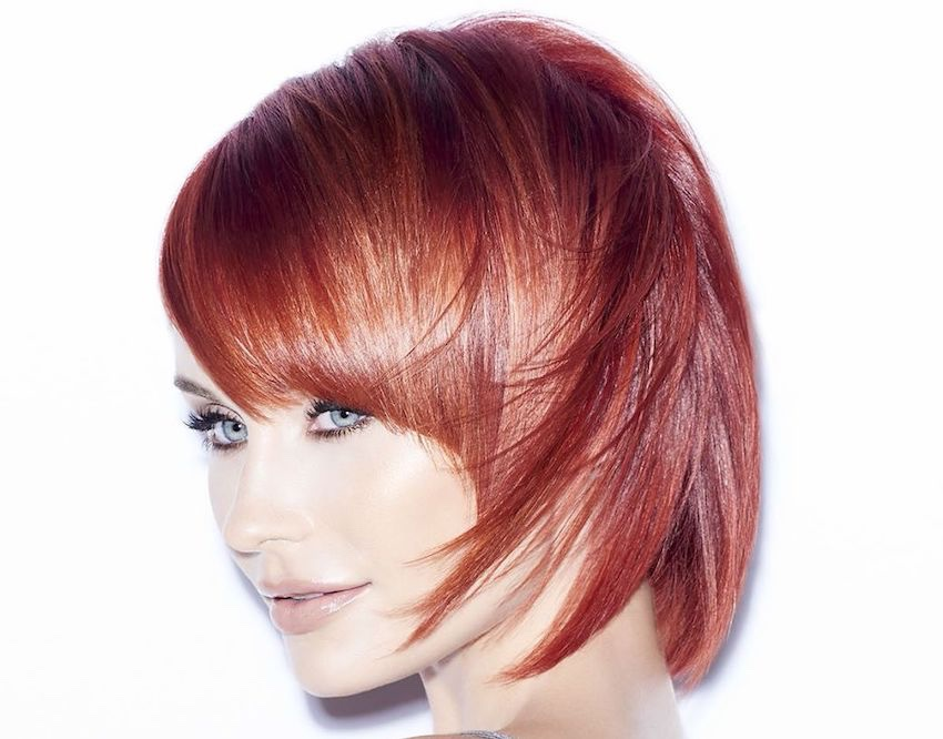 taglio medio corto capelli rossi 2019-2020