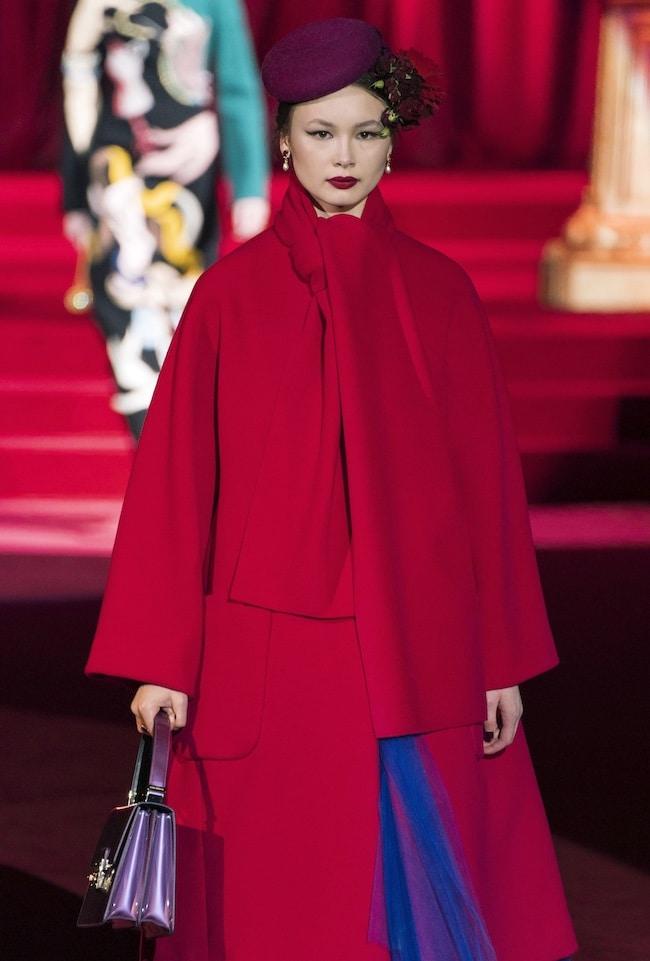 Dolce e Gabbana cappotto rosso inverno 2020