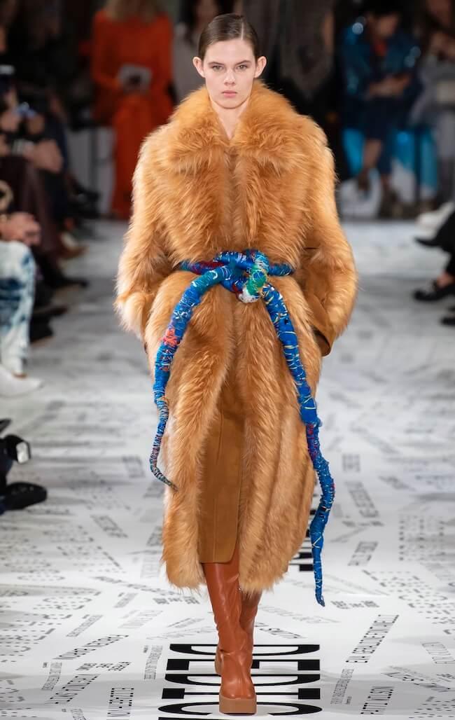 cappotto in pelliccia finta inverno 2020