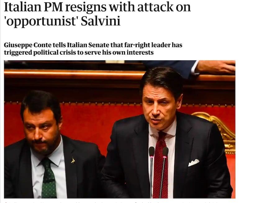 crisi governo dimissioni conte stampa estera
