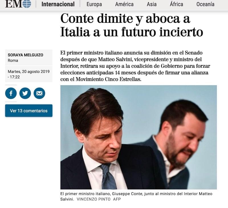 el mundo crisi governo Italia