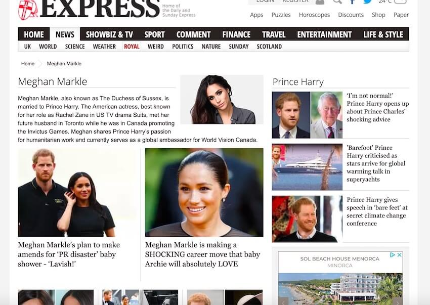 express meghan markle news