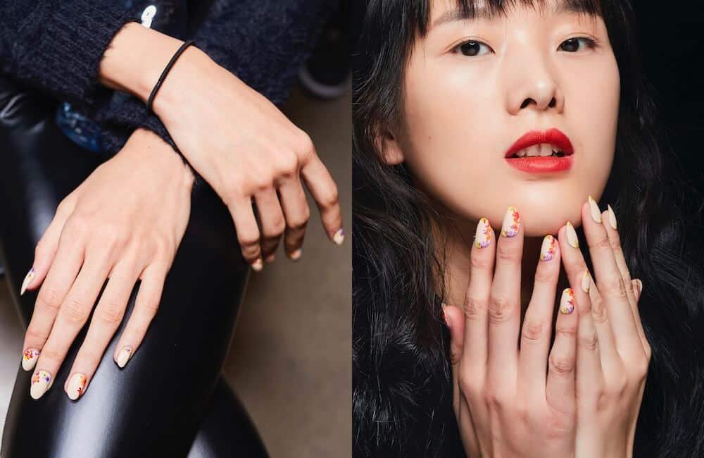 fiori sulle unghie nail art inverno 2019 2020
