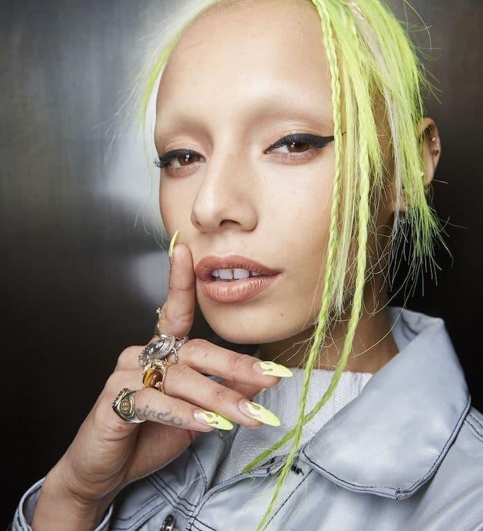 nail art neon unghie lunghe autunno 2019