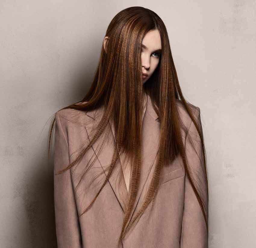 Davines capelli lunghi colore inverno 2019 2020