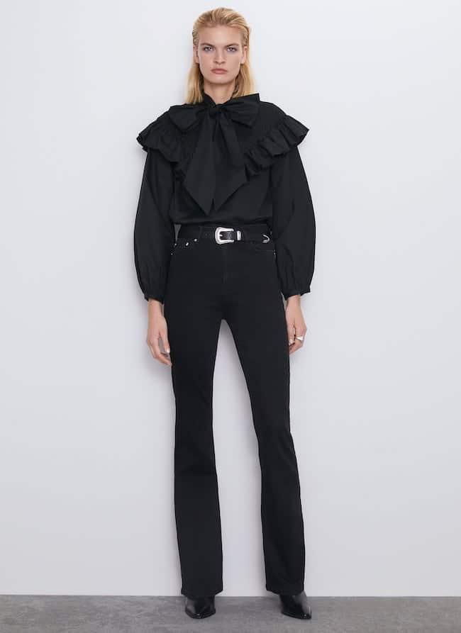 Jeans a vita alta zara inverno 2019 2020