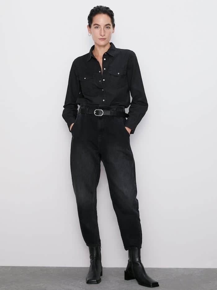 Jeans baggy zara autunno 2019 catalogo
