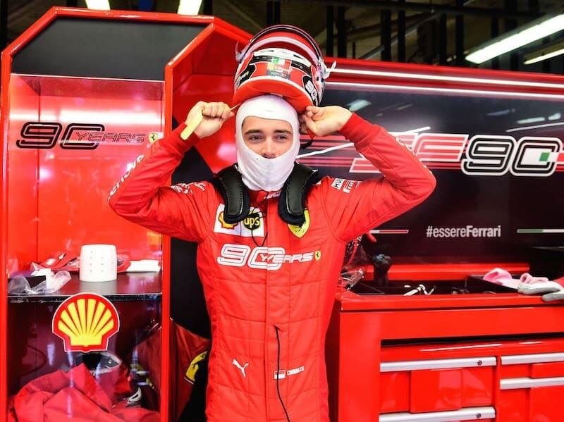 Leclerc Ferrari formula 1