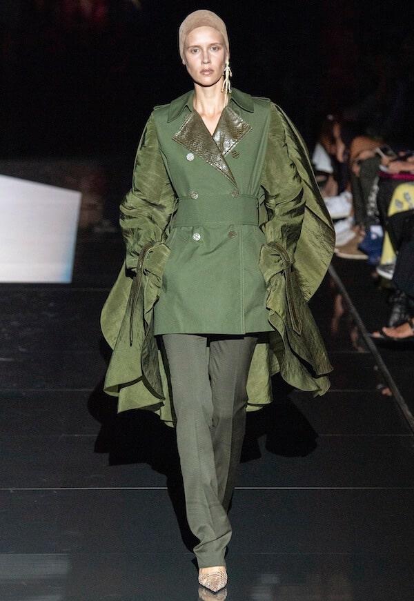 Schiaparelli abito verde 2019 2020