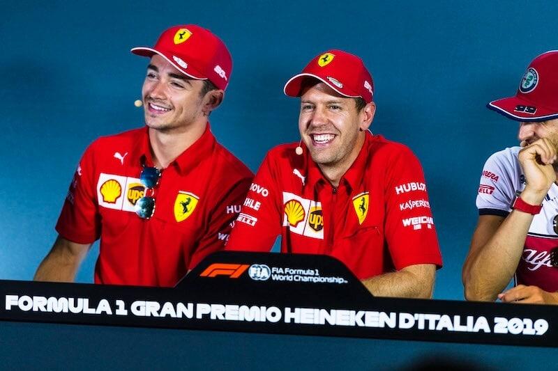 Sebastian Vettel Charles Leclerc settembre 2019