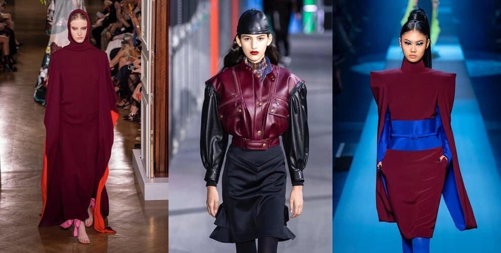 abiti bordeaux moda donna inverno 2020