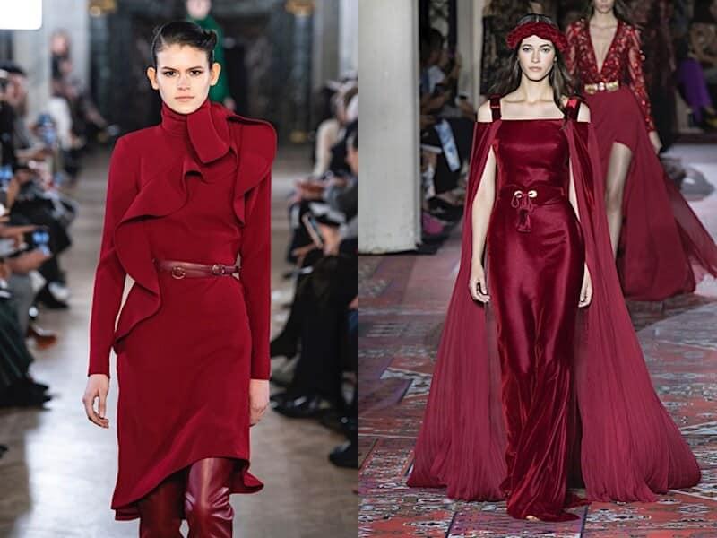 abiti eleganti rosso bordeaux inverno 2019 2020
